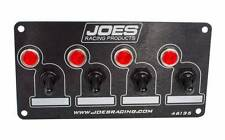 JOES RACING SWITCH PANEL, 4 ACCESSORY WTH INDICATOR  LIGHTS 46135, 40 AMP,RUBBER