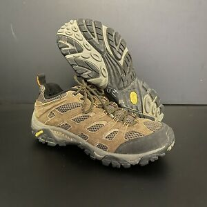 🔥 Merrell Moab Ventilator Earth Brown Suede Leather Hiking Boots Men's Size 10