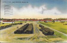 A Truck Pool Camp Wheeler GA Vintage postcard postally used in 1943