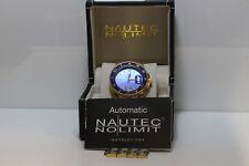 Nautec No Limit Deep Sea GMT GP Blue Herren Armbanduhr vergoldet (c021847)