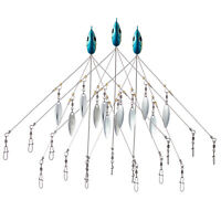 Bassdash 3pcs Umbrella Alabama Rig Bait Fishing Lure Head 5 Arms Multi-color New