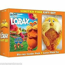 New The Lorax Limited time gift set DVD Blue ray, plush toy  6 inch Dr Seuss