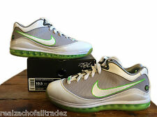 Nike Air Max LeBron VII 7 Low 2010 DUNKMAN GREY WHITE ELECTRIC GREEN size 10.5