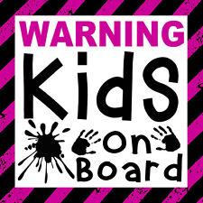 Warning Kids on Board - Funny Car Wall Window Door Bumper Sticker