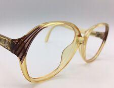 Viennaline Sunglasses/Eyeglasses Honey w/ burgund details 1970's 54-15-140