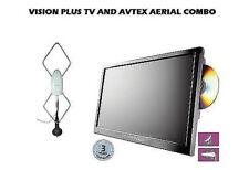 """VISION PLUS 21.5"""" 12/24 VOLT LED TV/DVD/FREEVIEW/FREESAT & AVTEX STH3000 AERIAL"""