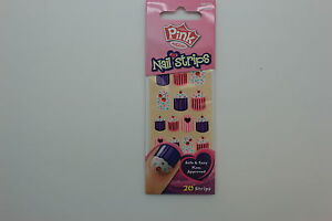 Pink by Kiss Nail Strips - DPNS02 Too Cute, 20 Strips