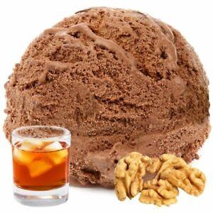 Schoko Rum Nuss Gianduja Geschmack Eispulver Vegan ohne Zucker 1:3, 1 kg