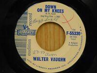 Walter Vaughn DJ 45 Down On My Knees bw Sally Pearl - Liberty VG++
