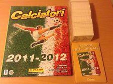 ALBUM CALCIATORI PANINI 2011 2012 + SET COMPLETO FIGURINE + AGGIORNAMENTI