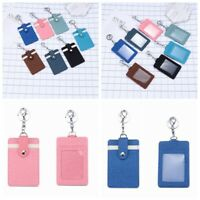 ID Holder Sleeve Office Name Tag Pass Clip Bus Card Case Badge DIY Key Holder !