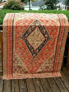 "ANTIQUE   1890- 1900  PERSIAN FINE SENAH  KELIM 6'1"" X 4'1"" GREAT  COLORS"