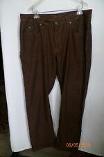Robert Graham Size 38-34 Men's Jeans Classic Yates Brown 100% Cotton