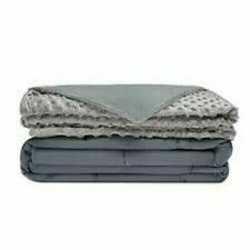 Adult Weighted Blanket with Removable Cover - Grey