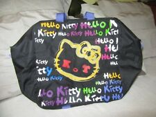 Hello Kitty canvas Tote bag Ex Large TOTE. Ex con Beach weekender shopper SALE