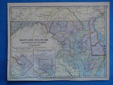 Vintage 1899 North America Map ~ Authentic Original 110 Year Old 80618 North America Maps