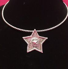 Western Cowgirl Neck Wire Choker Necklace With Star Pendant