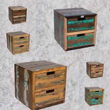 Nachttisch Vintage Kommode Beistelltisch Nachtkonsole Teak Antik Retro Schrank