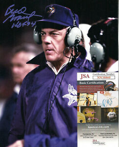 Bud Grant Signed 8x10 Photo-JSA COA-Minnesota Vikings Football-Hall of Fame insc