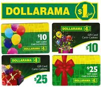 gift cards DOLLARAMA 💲 Collectible Canada store $10 $25 card