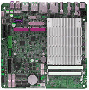 Intel Celeron 2.24GHz HDMI 2x DP mSATA PCIE x1 Fanless 12V Mini ITX Motherboard