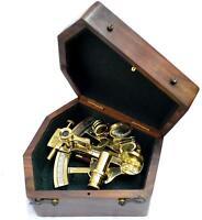 Marine Brass Ship Sextant Sextant Kelvin & Hughes London 1917 With Box