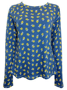 New Pure Cotton Floral Print Long Sleeve Top  by SEASALT size 10 12