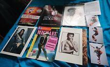 michael jackson joblot official exhibition programme, posters, magazines, photos