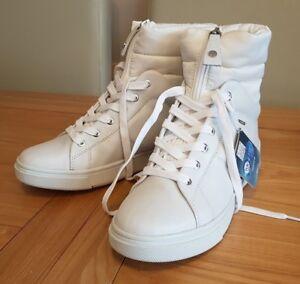 Geox Women's Respira Amphibiox D Mayrah B ABX White Leather Boots UK 2.5