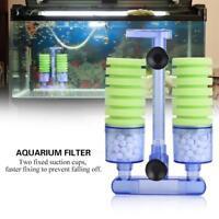 Biochemical Sponge Foam Filter for Aquarium Fish Tank Equipment Double Head