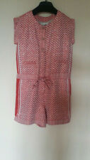 RARE CHANEL RUNWAY Resort Cruise Red White Color JUMPSUIT Romper Sequin Size 38
