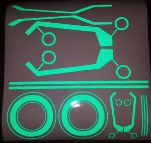 REFLECTIVE TRON STYLE MOTORCYCLE STICKERS HI VIZ NIGHT SAFTEY FAIRINGS TANK SAFE