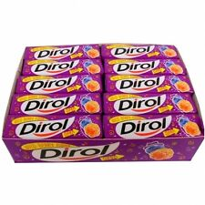 FULL BOX DIROL Wild Berry Blackberry Blueberry Raspberry Flavor Chewing Gum