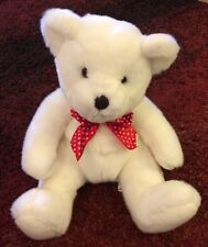 Friedmans Jewelers White Bear Plush with Pouch