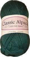 Classic Alpaca 100% Baby Alpaca Yarn #1412 Spruce 50g/110 yds DK Peruvian