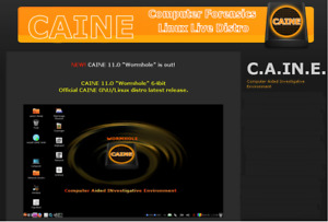 Latest Caine Linux 11 Operating System 64 Bit on DVD Bootable Disc.