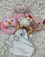 Lot of 5 Baby Toys Developmental Baby Rattles Doll Plush Pink Assorted Plush Toy