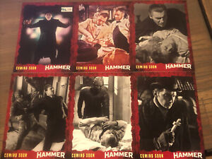Hammer Horror Unstoppable Cards 6 Card Promo Preview Set #/100