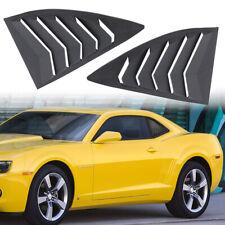 Side Window Louvers Quarter Scoop Vent Sun Shade For 2010-2015 Chevrolet Camaro