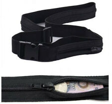 Travel Anti Theft Fabric Wallet Belt Secret Compartment Hiding Stash Money Belt