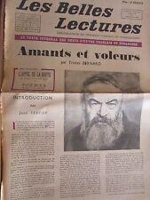Les Belles Lectures N°55 du 19 au 25 Mars 1947/ T. Bernard: Amants et Voleurs