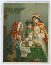 The Gypsy Fortune Teller Vintage Victorian Trade Card