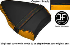 BLACK & YELLOW VINYL CUSTOM FITS DUCATI STREETFIGHTER 848 REAR SEAT COVER ONLY