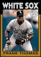 Frank Thomas 2021 Topps 5x7 1986 Baseball 35th Anniversary Gold #86B-50 /10