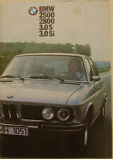 BMW 2500 2800 3.0 S Si Saloon 1973-74 Original UK Sales Brochure Pub. 332080012