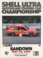 1988 ATCC Sandown Group A Race Program Johnson Sierra Brock Nissan Bathurst