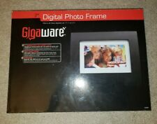 "Gigaware 7"" High-Resolution Digital Photo Black Wood Frame SD, MS, MMC, xD Slots"