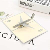 La 3D Avion Cartes de voeux de Noël anniversaire Valentine InvitationHOT