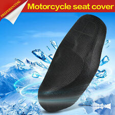 Breathable 3D Motorcycle Electric Bike Net Seat Cover Cooling Protector Black
