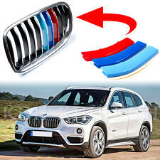 M-Tech Kidney Grill Grille 3 Color Cover Stripes Clips for BMW X1 F48 - 7 SLATS